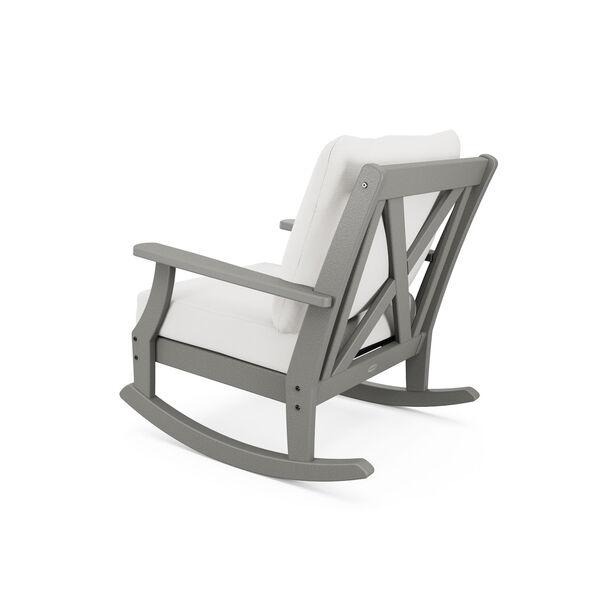 Braxton Black and Grey Mist Deep Seating Rocking Chair, image 2