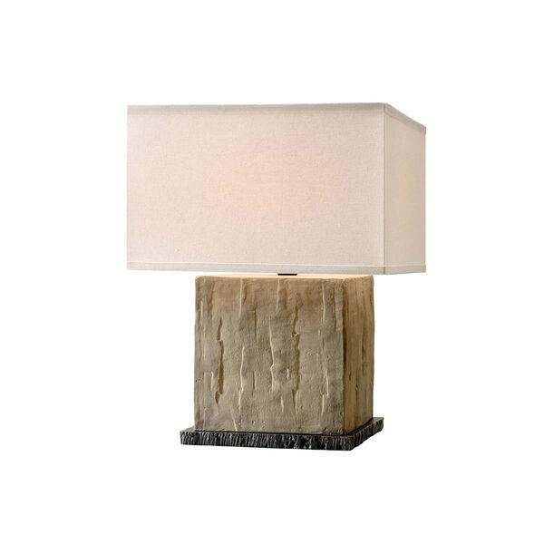 La Brea Sandstone Table Lamp with Linen Shade, image 1