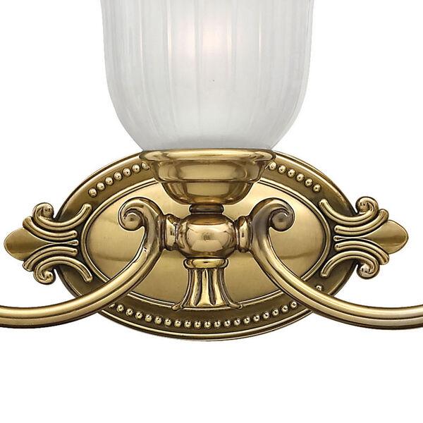 Francoise Burnished Brass Three-Light Bath Fixture, image 2