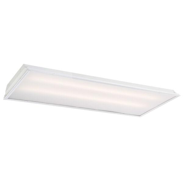 White 48-Inch 40W LED Troffer Light, image 1