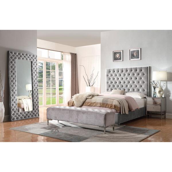 Vivian Gray Upholstered Queen Bed, image 2