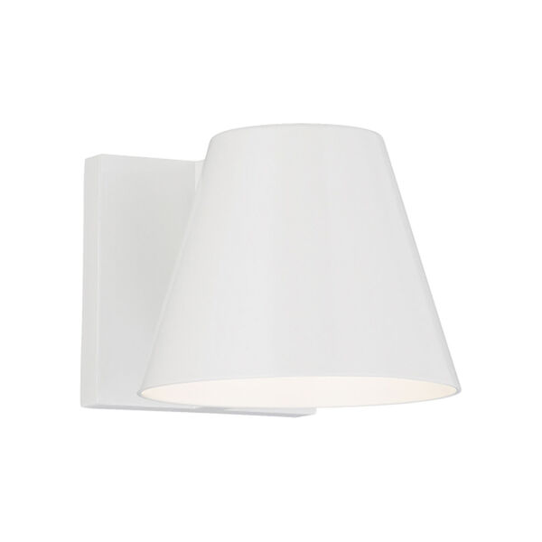 Bowman 4 White One-Light LED Wall Sconce with White Stem, image 1