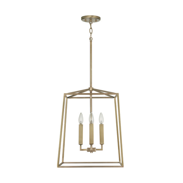 Thea Aged Brass 71-Inch Four-Light Foyer Pendant, image 1