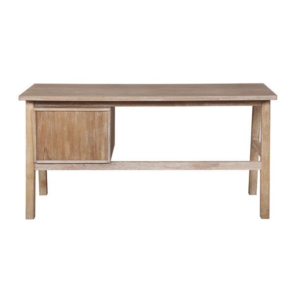 Santiago Natural Desk with Side Storage, image 4