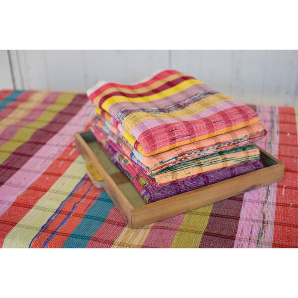 Recycled Cotton Throws, Set of Six, image 1