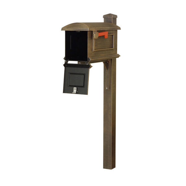 Curbside Copper Mailbox with Wellington Mailbox Post, image 3