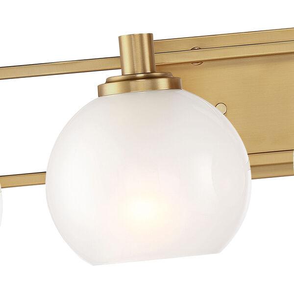 Cowen Brushed Gold Four-Light Bath Vanity, image 3