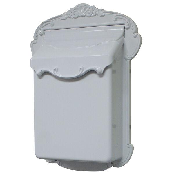 Victoria Vertical White Mailbox, image 1