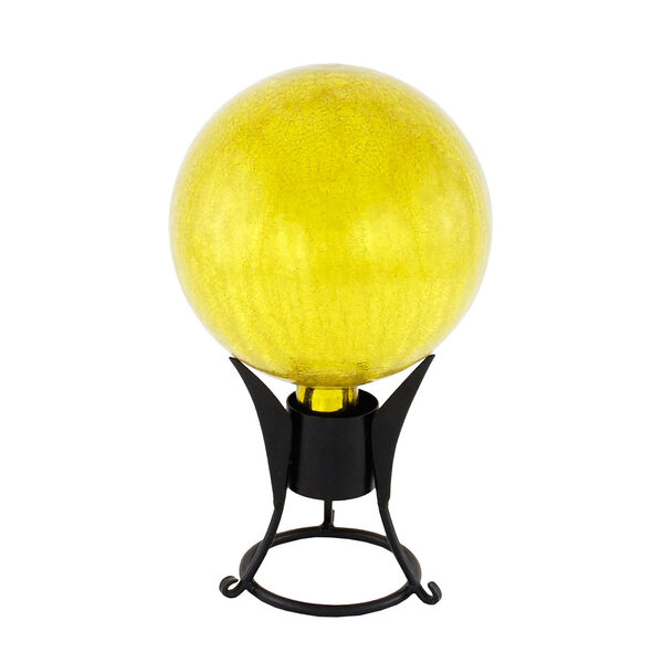 Gazing Globe 10 Inch Lemon Drop Crackle, image 2