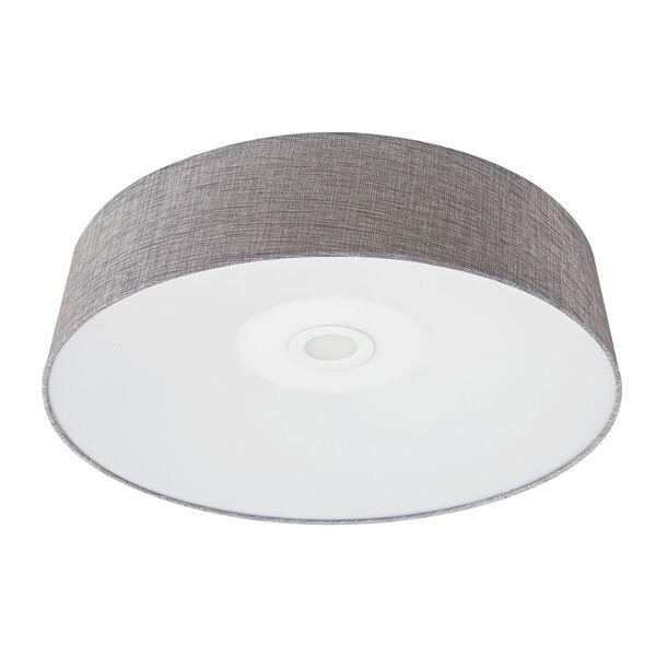 Cermack St. Grey Linen 16-Inch LED Flush Mount, image 1