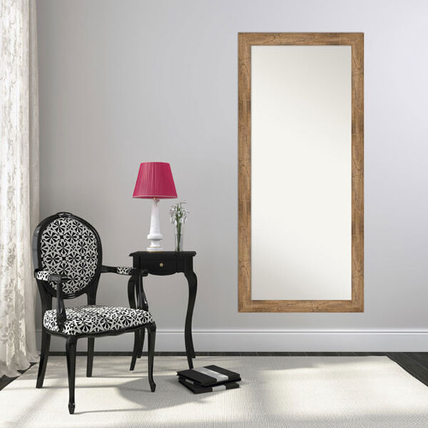 Brown 29-Inch Floor Mirror, image 4