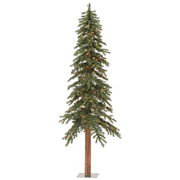 Green 9 Foot Natural Alpine Tree with 500 Multicolor Lights, image 1