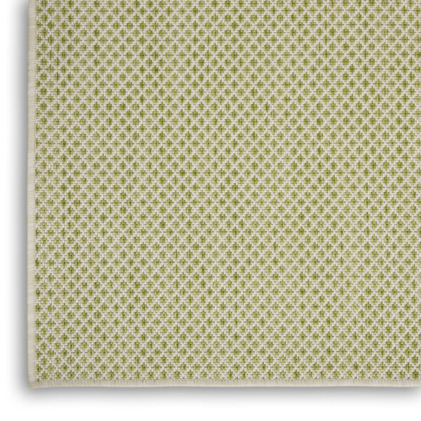 Courtyard Ivory and Green 5 Ft. x 7 Ft. Rectangle Indoor/Outdoor Area Rug, image 5