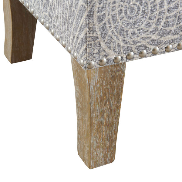 Bentley Rustic Gray Upholstered Storage Bench, image 9