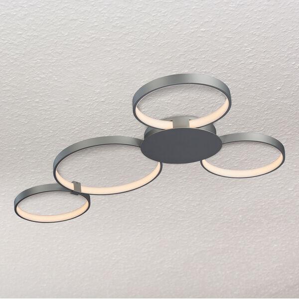 Capella Silver 29-Inch LED Semi Flush Mount, image 1
