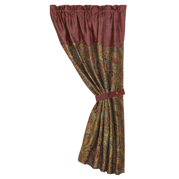San Angelo Red, Tan and Teal 84 x 48-Inch Curtain Single Panel, image 1