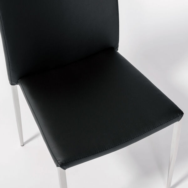 Diana Black 18-Inch Stacking Side Chair, Set of 4, image 6