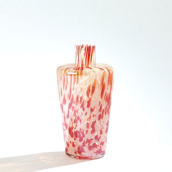 Red and Beige Confetti Shoulder Vase, image 1