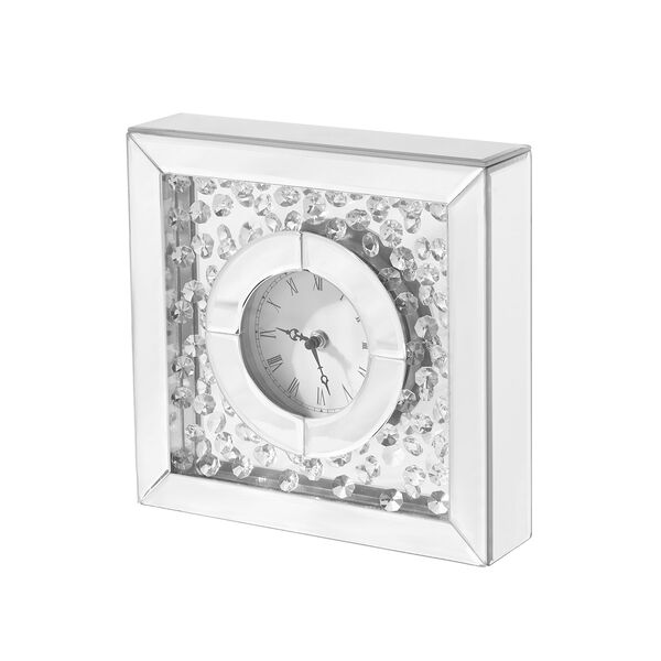 Sparkle Crystal 10-Inch Square Table clock, image 3