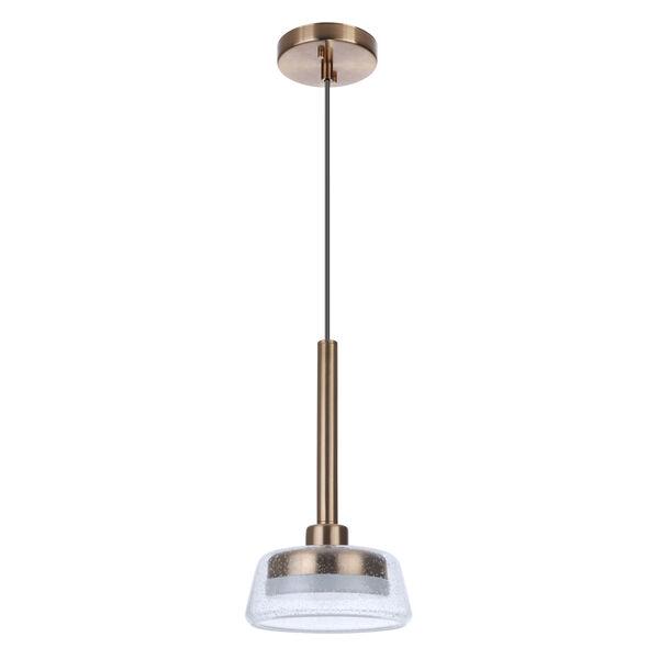 Centric Satin Brass LED Mini Pendant, image 4