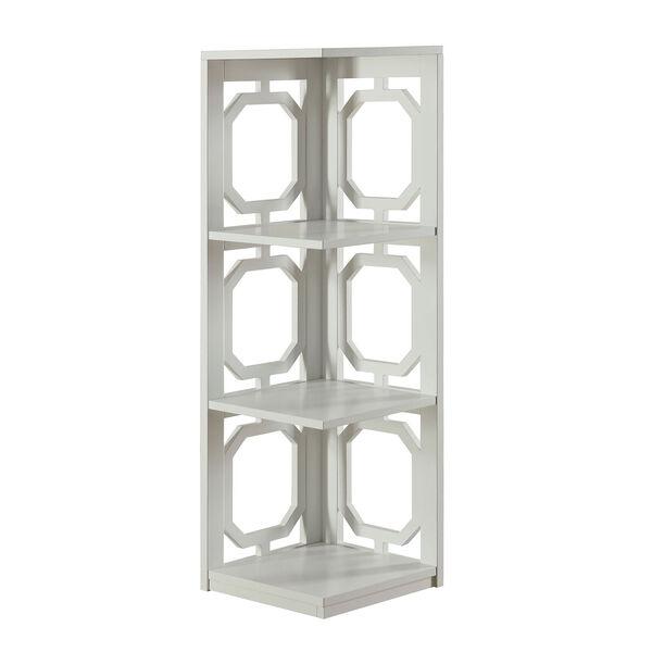 Omega 3 Tier Corner Bookcase, image 1