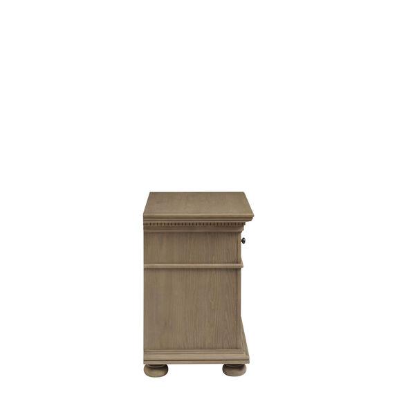 Brown One-Drawer Wood Nightstand, image 4