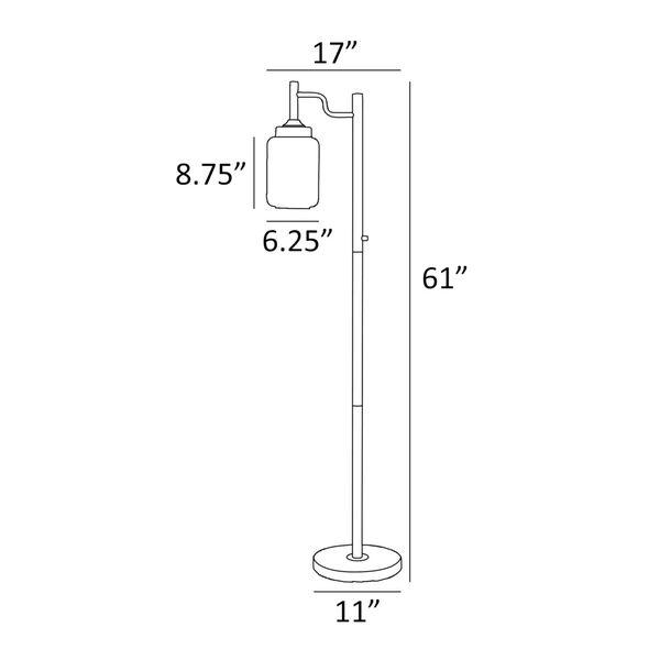 Luken Black One-Light Floor Lamp, image 5
