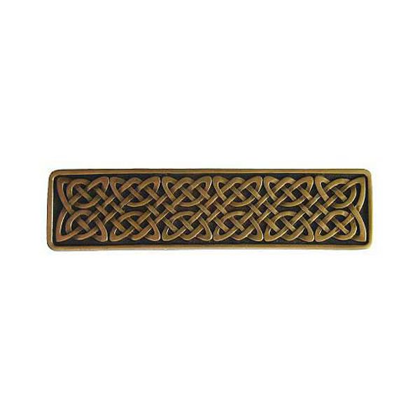 Antique Brass Celtic Isles Pull, image 1