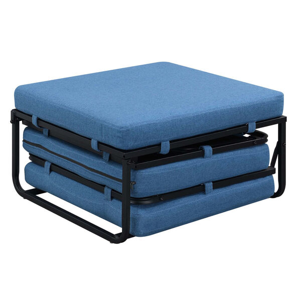 Designs4Comfort Blue Folding Bed Ottoman, image 4