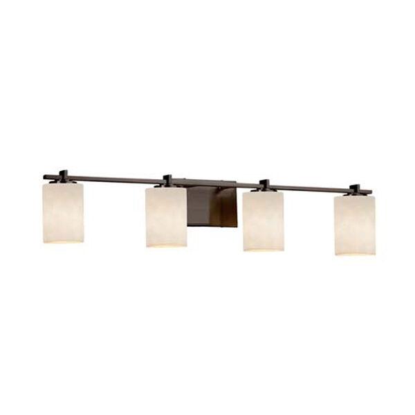 Clouds - Era Matte Black Four-Light LED Bath Bar with Cylinder Flat Rim Clouds Shade, image 1