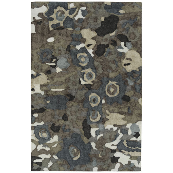 Flora Fantasies Gray Indoor/Outdoor Rug, image 1