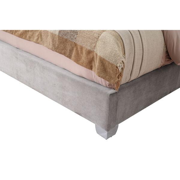 Vivian Cal. King Silver Gray Cal King Upholstered Bed, image 6