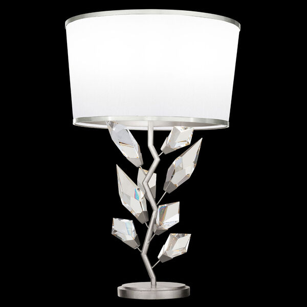 Foret Silver White One-Light Table Lamp, image 1