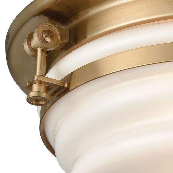 Riley Satin Brass Three-Light Flush Mount, image 2