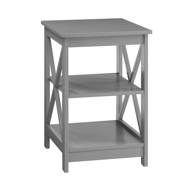 Oxford Gray End Table, image 3