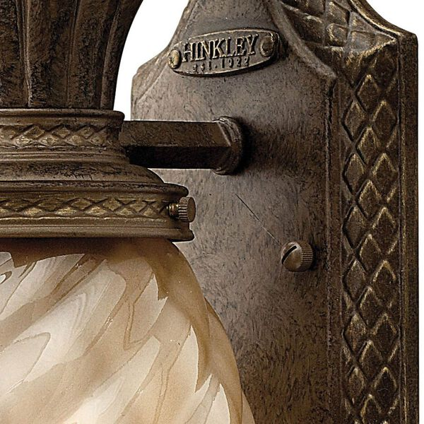 Plantation Small Outdoor Wall Mount with Light Amber Glass, image 2