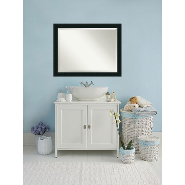 Corvino Black 45 x 35 In. Bathroom Mirror, image 4
