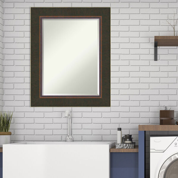 Milano Bronze 24W X 30H-Inch Bathroom Vanity Wall Mirror, image 3