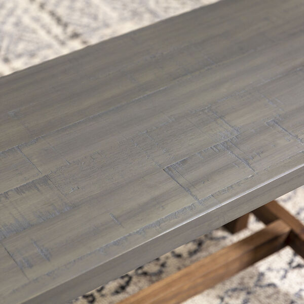 Brennan Gray and Brown Dining Bench, image 2