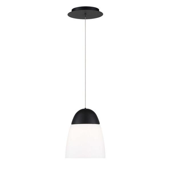 Dimple Black Seven-Inch LED Mini Pendant, image 2