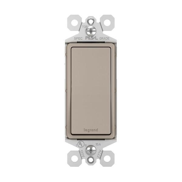 Nickel 15A Single Pole Switch, image 1