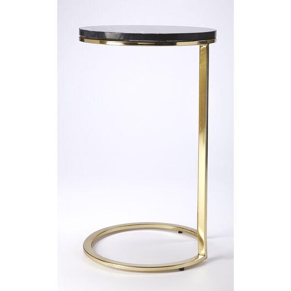 Butler Loft Polished Gold Martel Marble and Metal Side Table, image 3