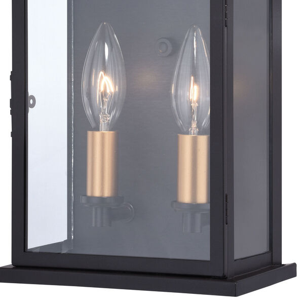 Bristol Oil Burnished Bronze and Light Gold Two-Light Outdoor Wall Sconce, image 3