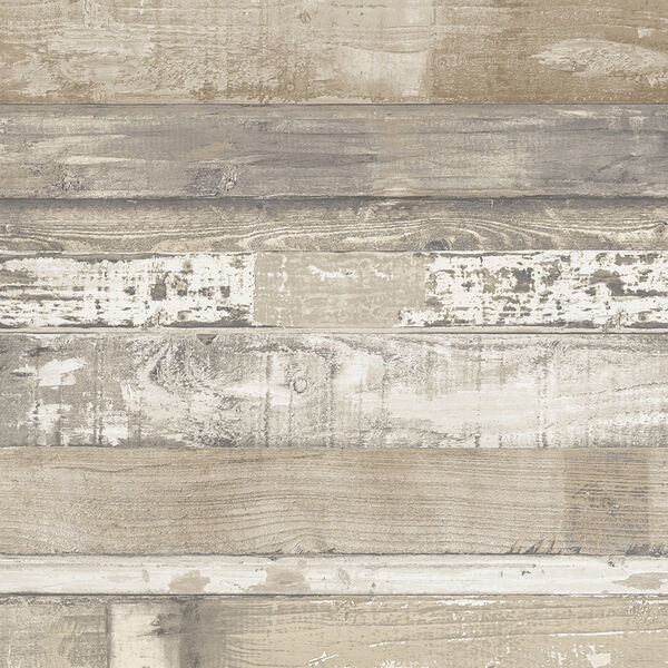 Brown and Beige Beachwood Wallpaper - SAMPLE SWATCH ONLY, image 1