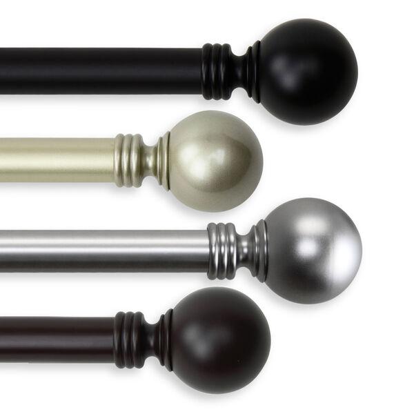 Globe Black 160-240 Inch Double Curtain Rod, image 2