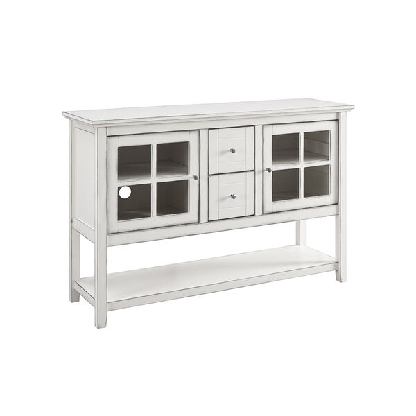 52-Inch Wood Console Table Buffet TV Stand - Antique White, image 4