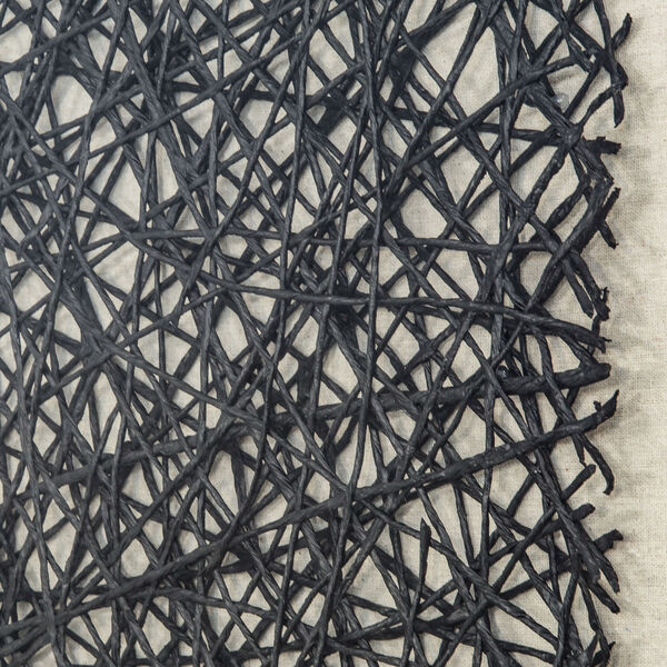 Black and White 32-Inch Thread Lightly Wall Art, image 4
