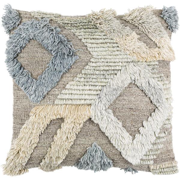 Baracoa Beige, Medium Gray and Tan 18-Inch Pillow, image 1