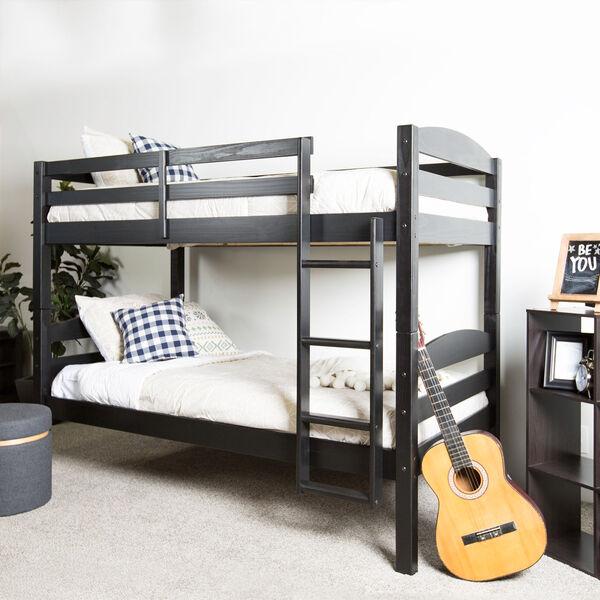 Solid Wood Bunk Bed - Black, image 6