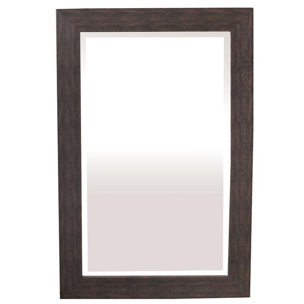 Espresso 36-Inch Tall Framed Mirror, image 1